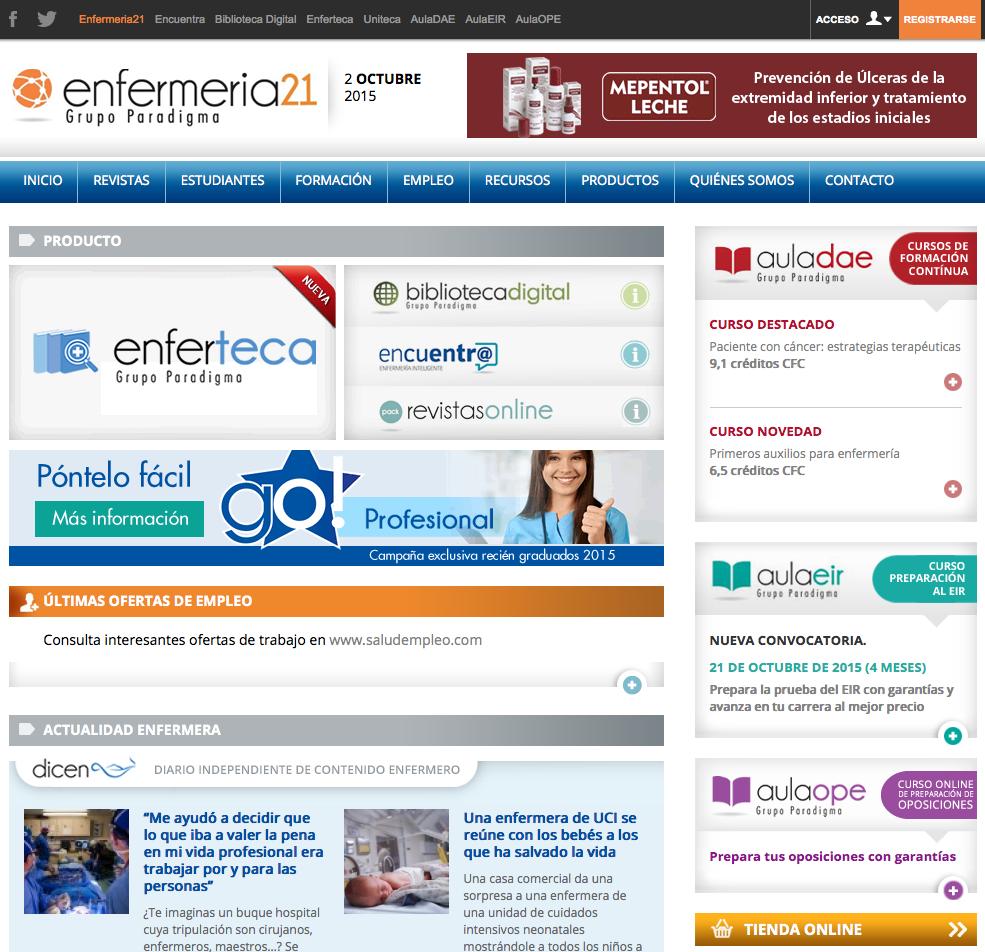 """Webs enfermeras y """"twitteros"""" más influyentes en España – Enfermería21"""