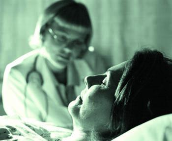 Closeup of Woman Patient Sleeping