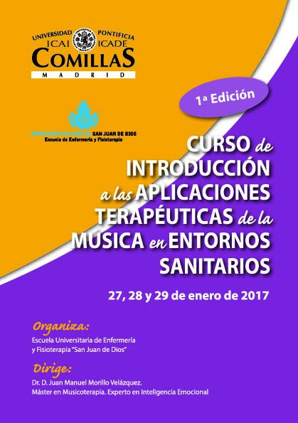 Folleto Curso Introducción Aplicaciones Terapéuticas de la Músic